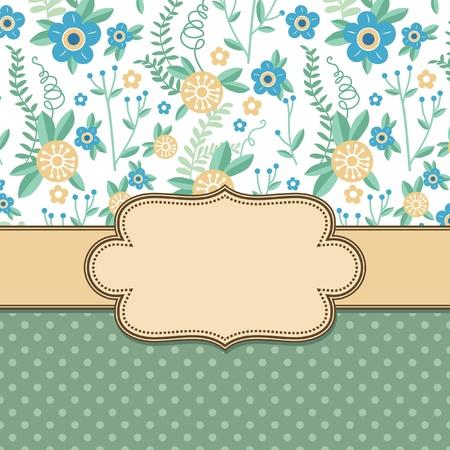 Vintage vector flower frame