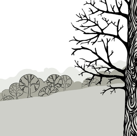 illustration of a tree Vector