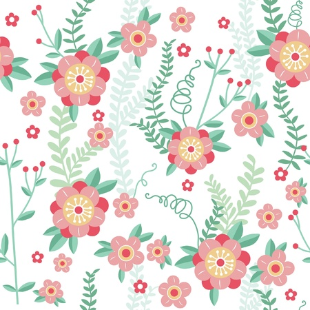 Cute floral seamless pattern background Vector