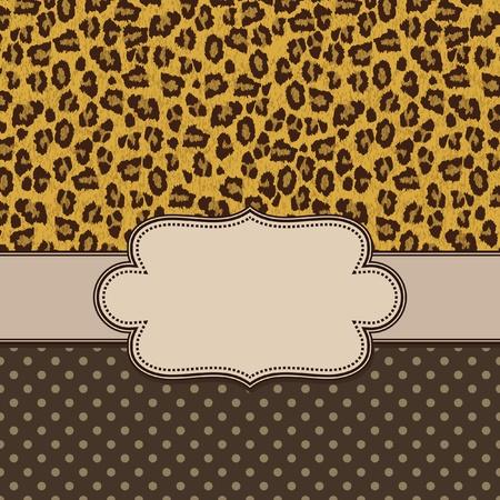 Vintage vector leopard frame