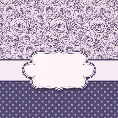 Cadre de fleur de vecteur Vintage Banque d'images - 21569434