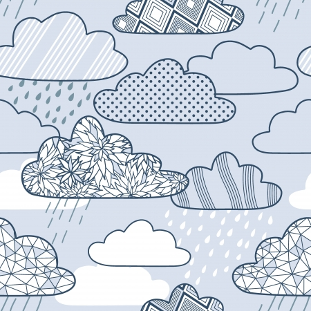 vector pattern with clouds Vector