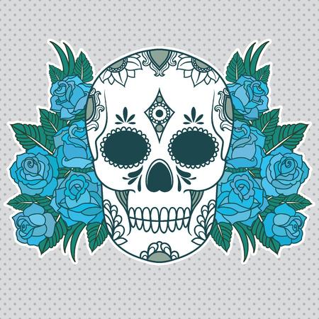 Vector illustration d'un crâne Banque d'images - 23268132
