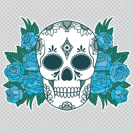 Vector illustration of a skull Vector