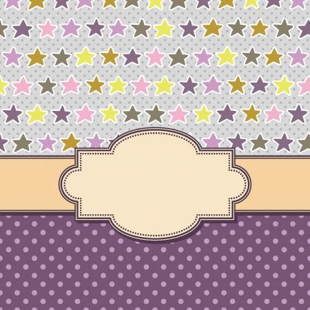 vector vintage frame with stars Illustration