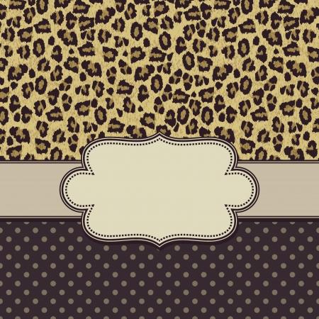 Vecteur léopard vintage frame Banque d'images - 23320888