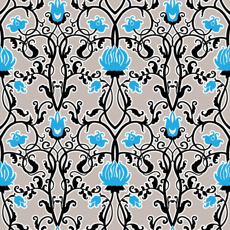 jugendstil: vintage flowers vector pattern Illustration