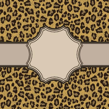 Vintage vector leopard frame Vector