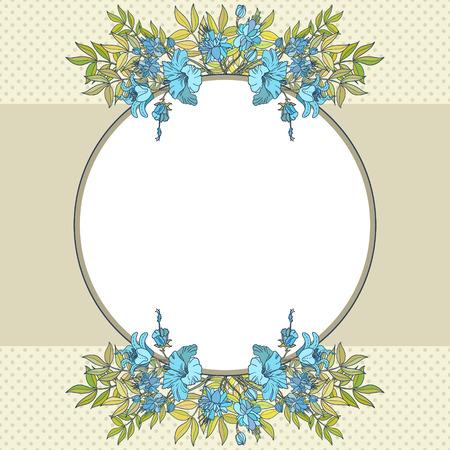 Vintage vector flower frame Vector