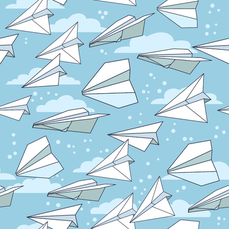 Paper planes seamless texture 矢量图像