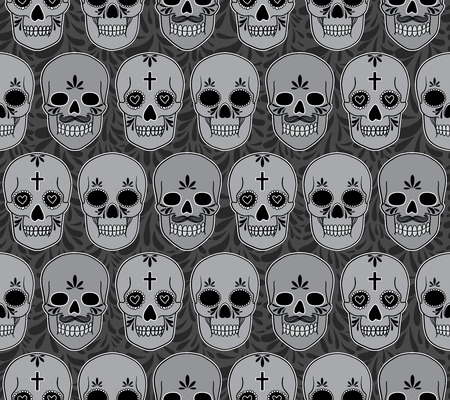 vector pattern with skulls Vector