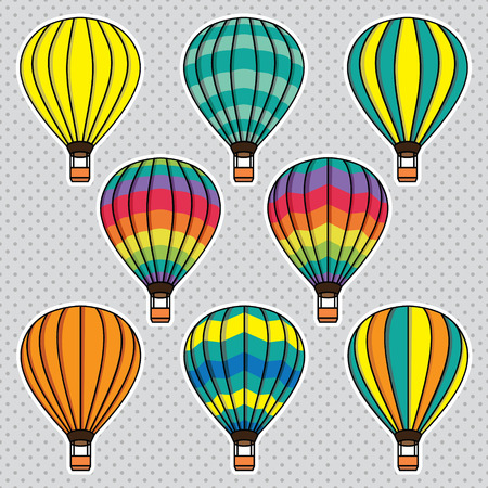 set of hot balloons Vector