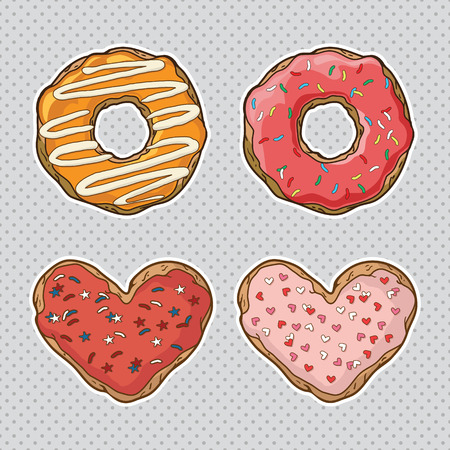 set with cookies and donuts