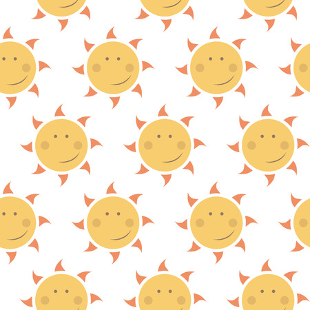 childish seamless pattern with suns Vector