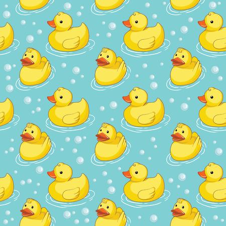 Motif avec des canards jaunes Banque d'images - 26933874