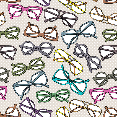 Seamless pattern with glasses
