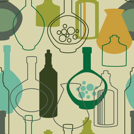 vermouth: Background with bottles ,seamless pattern with wine bottles Illustration