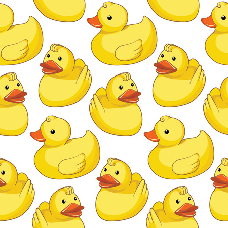 Pattern with yellow ducks