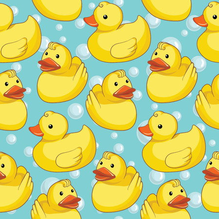 bathroom duck: Pattern with yellow ducks
