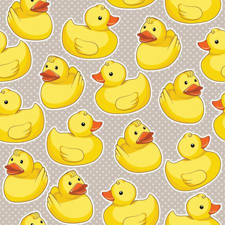 Modelo con los patos amarillos