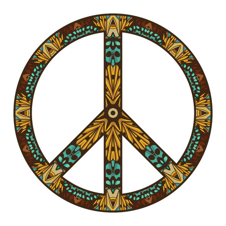 peace concept: International peace symbol isolated on white  Peace concept