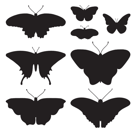 beautifully: silhouettes of butterflies