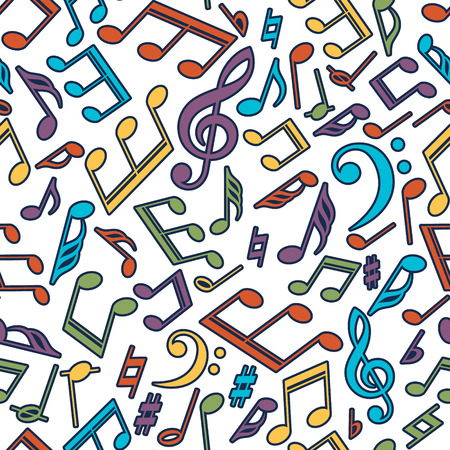 Vector musical pattern with notes Vector