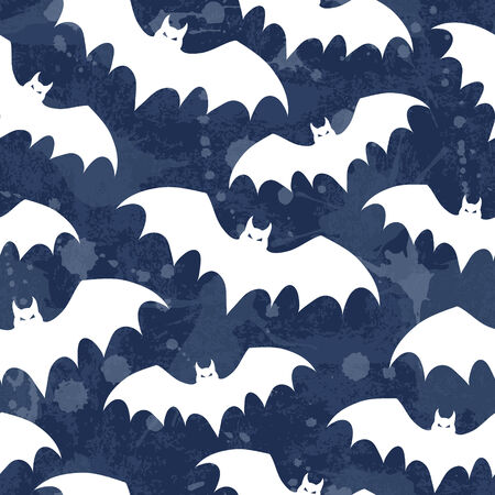 Seamless background with bats. Vector illustration.