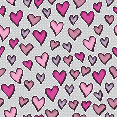 Seamless pattern avec des coeurs de valentine Banque d'images - 37266621