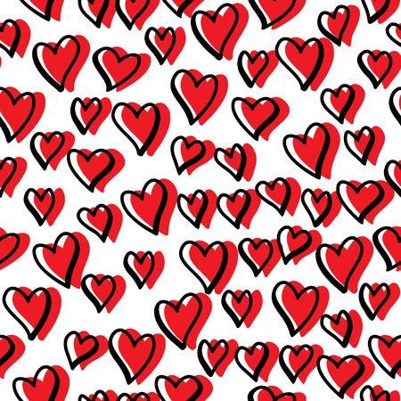Seamless pattern avec des coeurs de valentine Banque d'images - 37439886