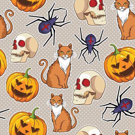 halloween vector seamless pattern Vector