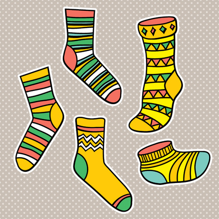 toes: Vector set with socks