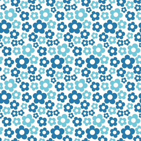 Cute floral seamless pattern. Vector background with flowers and leaves. Illustration