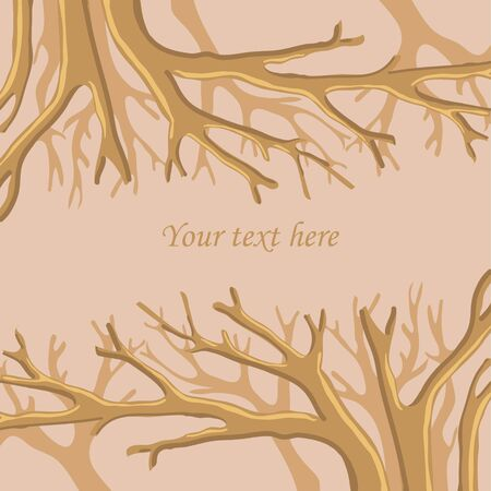 Vector abstract frame with trees and text place