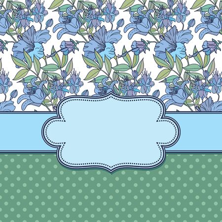 Vector abstract flower frame with text place