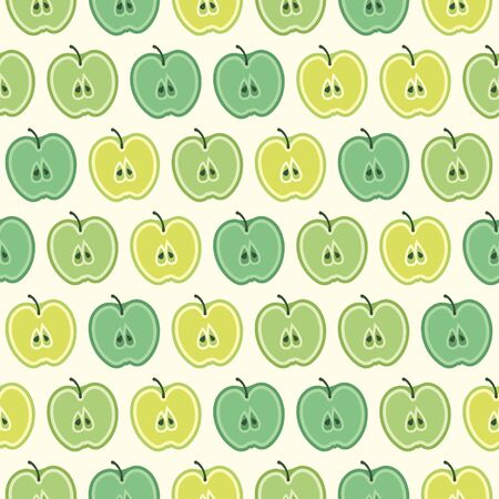 Vector summer pattern with apples. Seamless texture design.