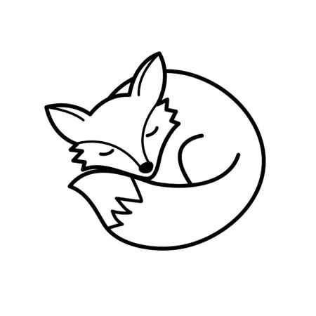 Vector isolated black and white fox icon. Creative logo concept Vectores