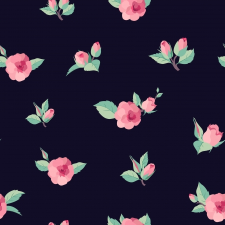 rose bud: Roses seamless pattern