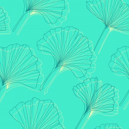 Ginkgo leaves pattern Vector