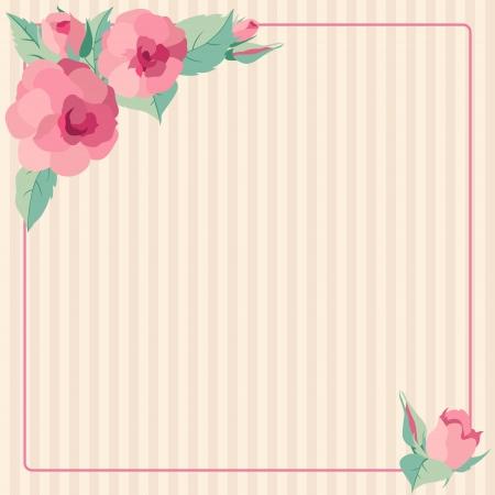 vintages: Vintages roses frame