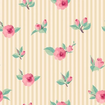 bunch flowers: Vintage roses seamless pattern Illustration