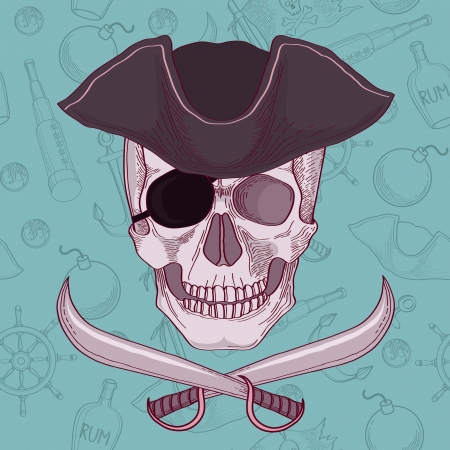 Pirates skull vector illustration Vector