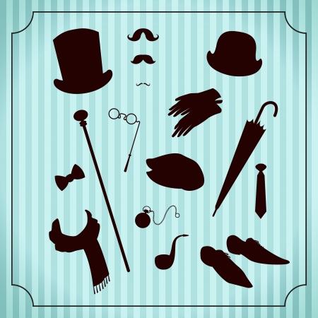 bowler hats: Vintage gentleman costume set