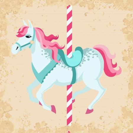 Vintage carrousel paard