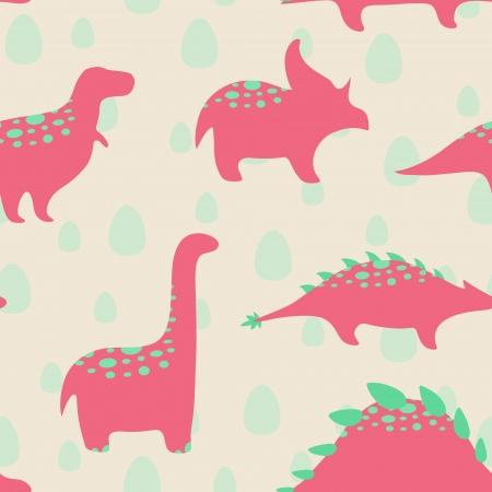 dinosaur egg: Dinosaurs seamless pattern