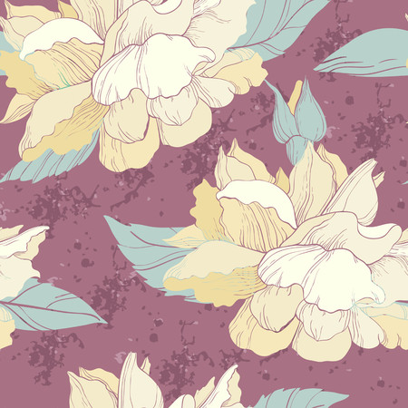 Elegant seamless pattern with rose flowers Vector