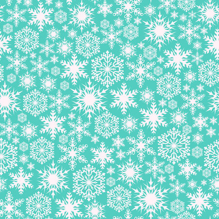 Beautiful winter background  Seamless pattern with snowflakes Vector