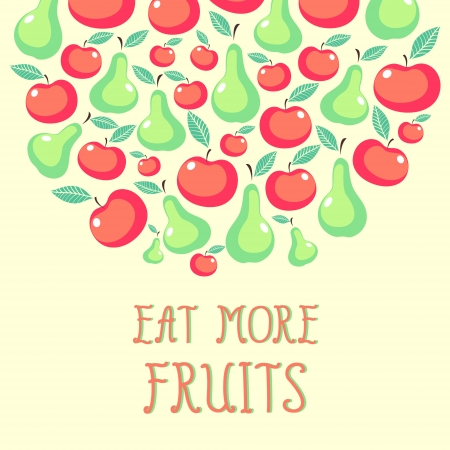 Beautiful vector with fruits Vector