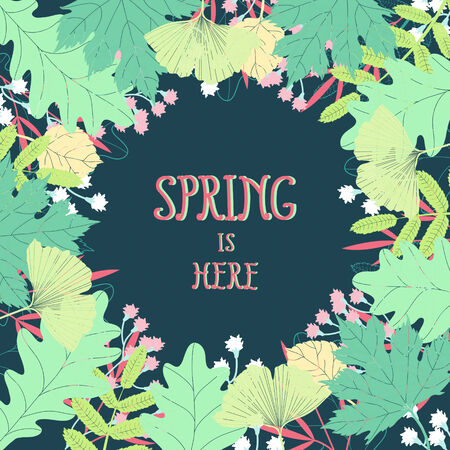 Spring floral vector background  Vector