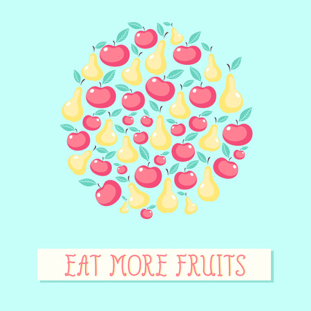 Beautiful vector background with fruits Vector